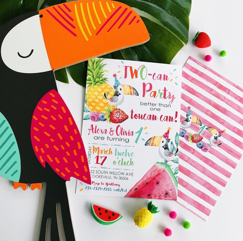 This toucan party invite is adorable! - See More Toucan Party Ideas at B. Lovely Events