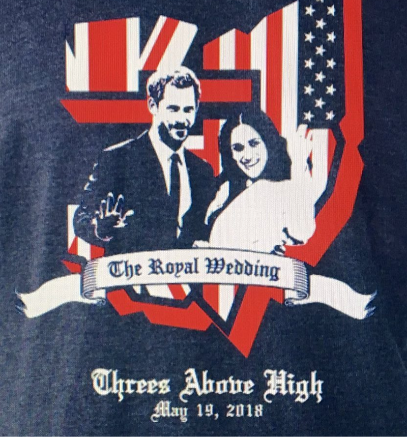 What a fun royal wedding shirt - See More Royal Wedding Lovlieness at B. Lovely Events #royalwedding #partyplanning #partythemes