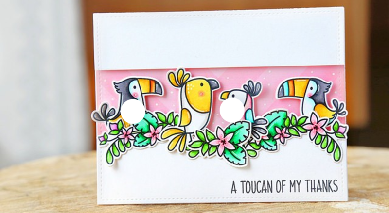 too cute toucan card! - See More Toucan Party Ideas at B. Lovely Events