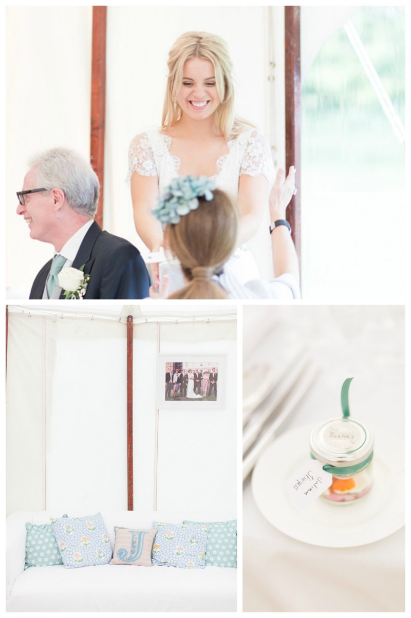 Garden Wedding Ideas- Real Wedding- See all of the cute details on B. Lovely Events