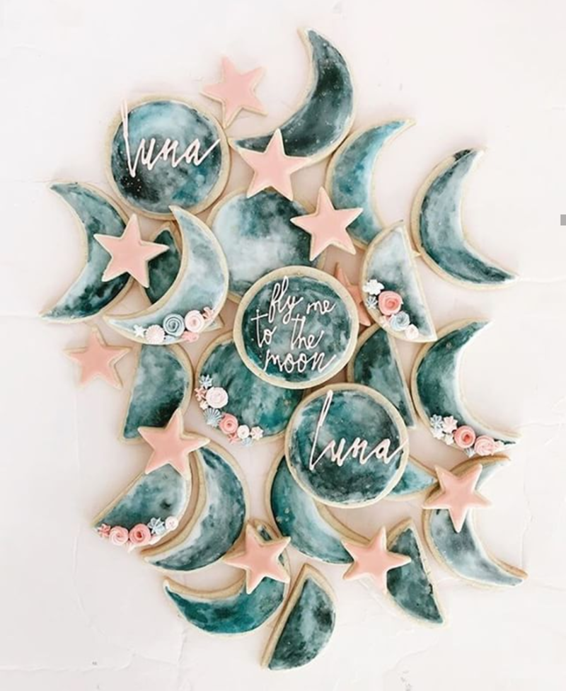 Rose space Cookies- See our favorite Rosé Party Ideas on B. Lovely Events!