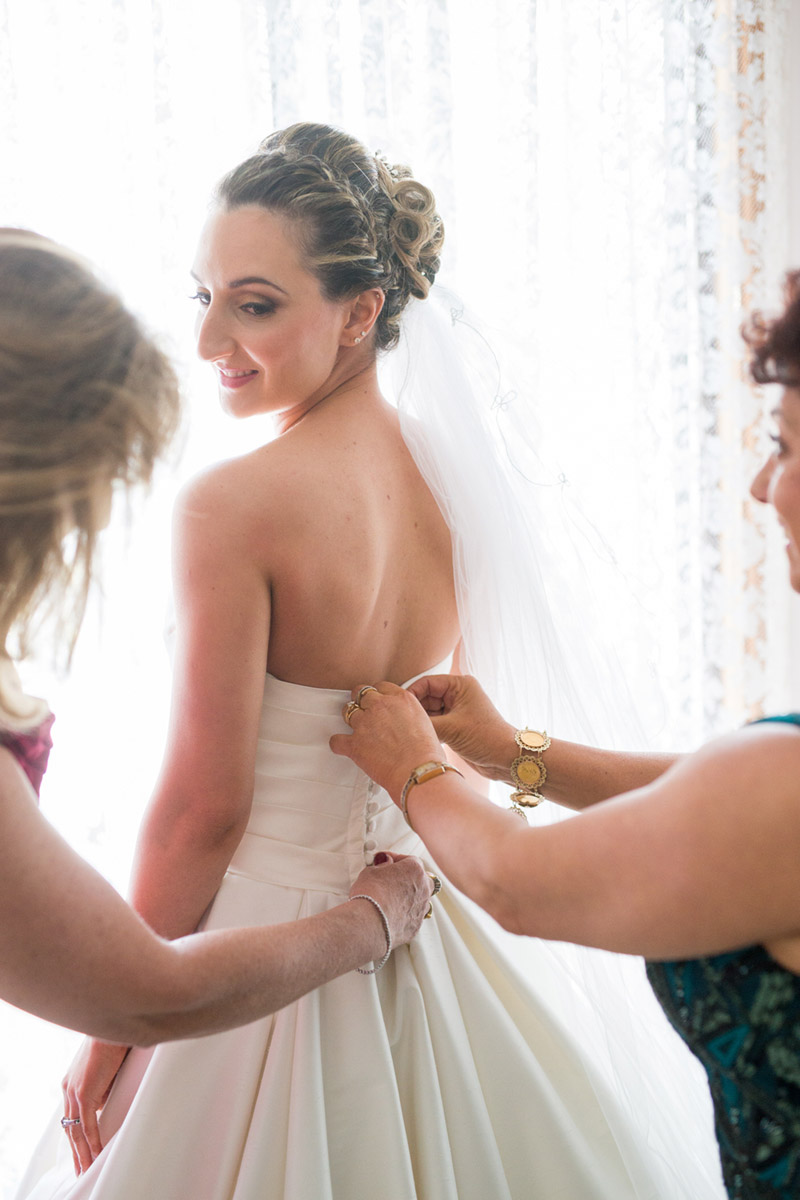 Bride getting ready shot {Real Wedding} Katrina & Leigh's Gorgeous Firework Wedding - See the details on B. Lovely Events