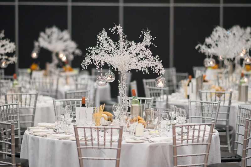 Crystal Tree Wedding Centerpiece {Real Wedding} Katrina & Leigh's Gorgeous Firework Wedding - See the details on B. Lovely Events