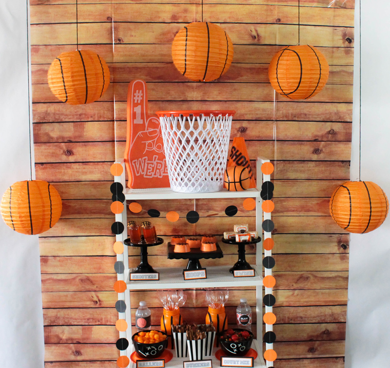 This Basketball party is a slam dunk! #basketball #boysparty #kidsparty #partythemes