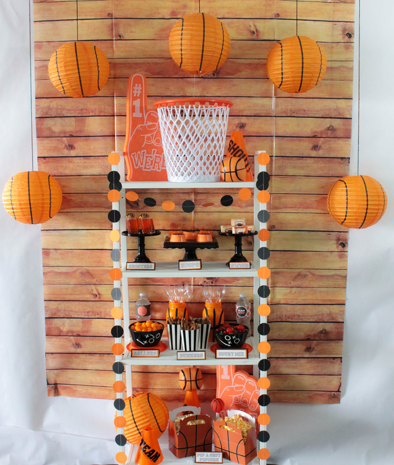 This Basketball party is a slam dunk! #basketball #kidsparty #basektballparty #basketballideas