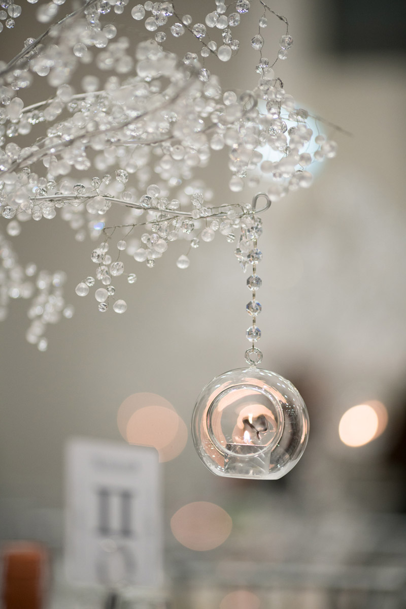 Votive Candle Centerpiece Ideas - See the details on B. Lovely Events