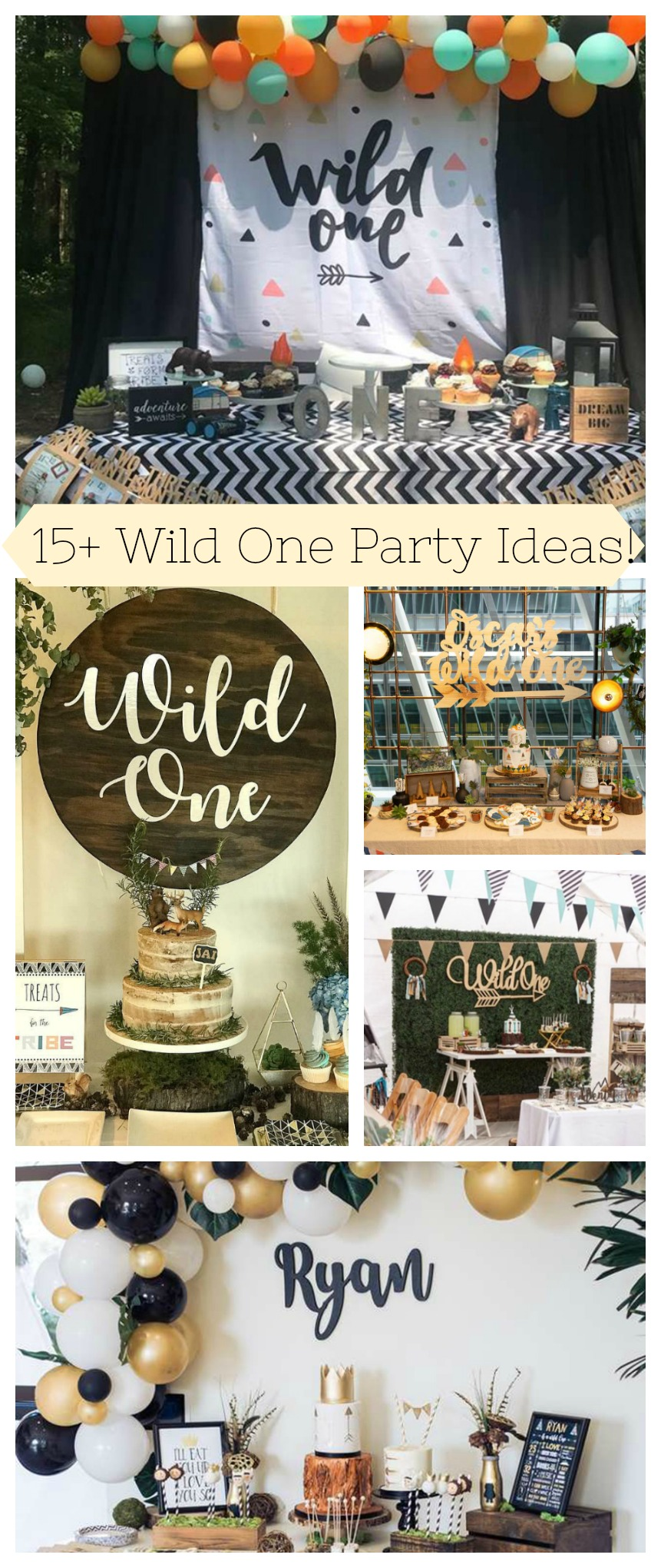 15+ Wild One Party Ideas on B. Lovely Events!- #wildone #firstbirthday #Birthdaytheme #birthdayparty