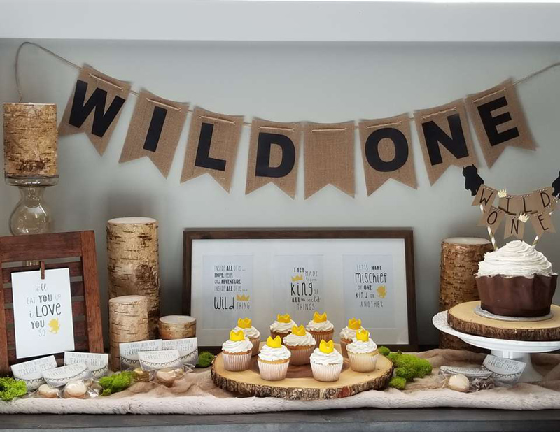 Fun and rustic wild one party! - See More Wild One Party Ideas and Inspirations On B. Lovely Events! #birthday #birthdayparty #kidsparty #1stbirthday