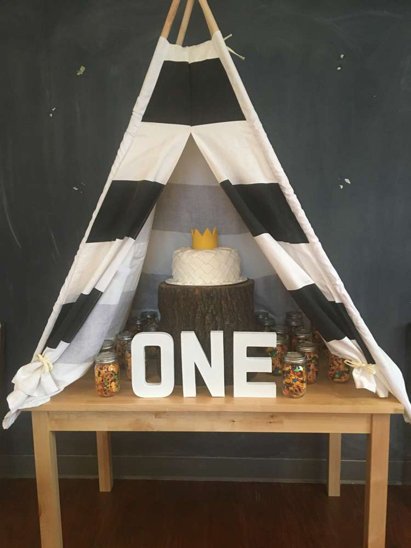 Fun tent for a wild one party- See More Wild One Party Ideas and Inspirations On B. Lovely Events! #birthday #birthdayparty #kidsparty #1stbirthday