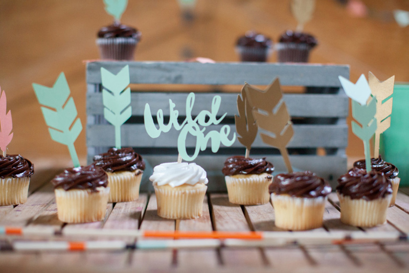 Love these wile one cupcakes! - See More Wild One Party Ideas and Inspirations On B. Lovely Events! #birthday #birthdayparty #kidsparty #1stbirthday
