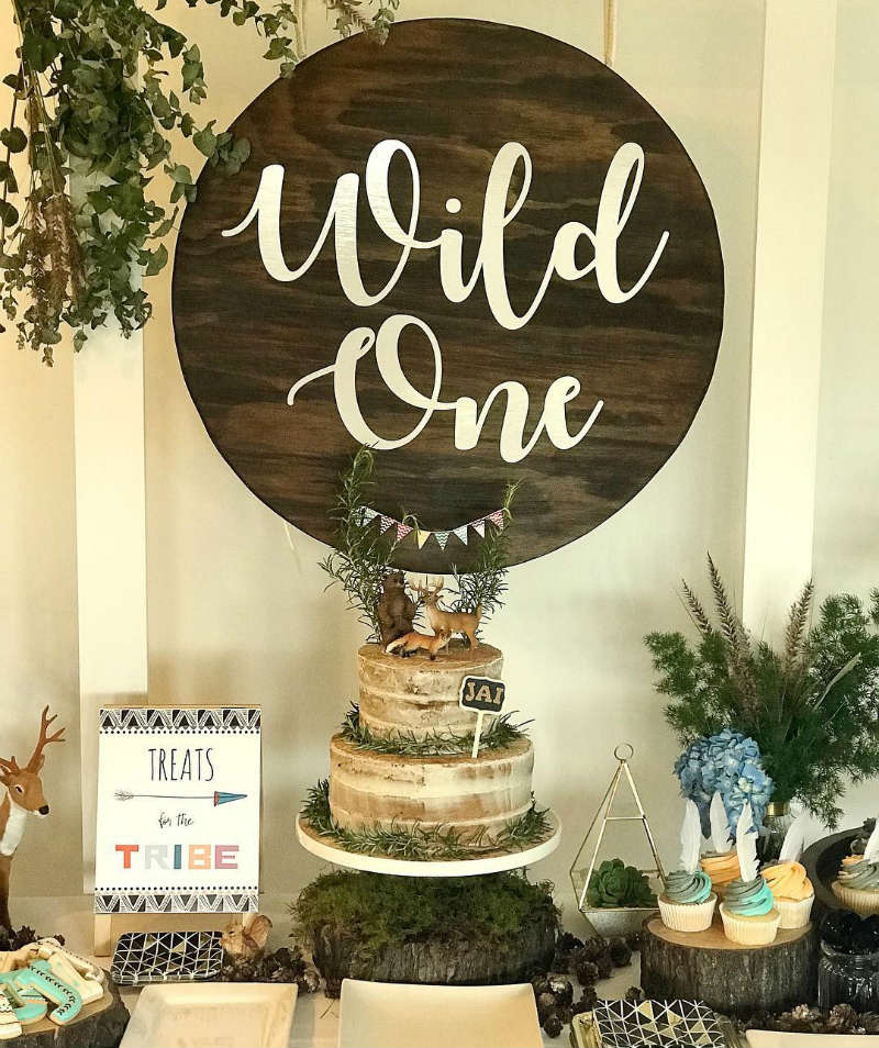 Love this Wild One Party sign! - See More Wild One Party Ideas and Inspirations On B. Lovely Events! #birthday #birthdayparty #kidsparty #1stbirthday