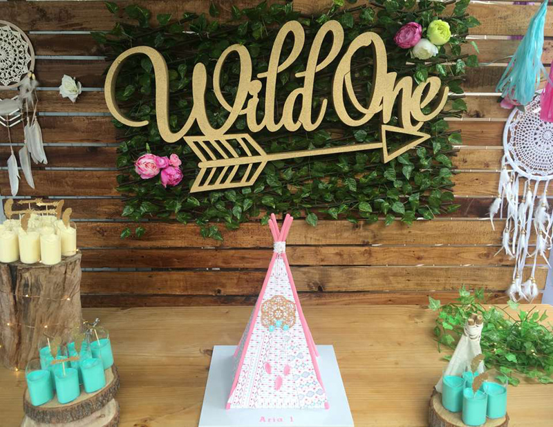 Love this girly wild one party - See More Wild One Party Ideas and Inspirations On B. Lovely Events! #birthday #birthdayparty #kidsparty #1stbirthday