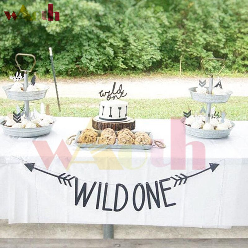 Love this wild one party set up! - See More Wild One Party Ideas and Inspirations On B. Lovely Events! #birthday #birthdayparty #kidsparty #1stbirthday