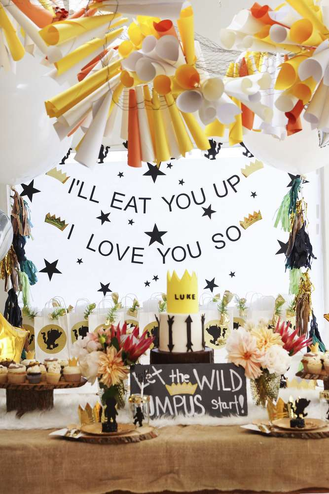 Where the wild ones are party - See More Wild One Party Ideas and Inspirations On B. Lovely Events! #birthday #birthdayparty #kidsparty #1stbirthday