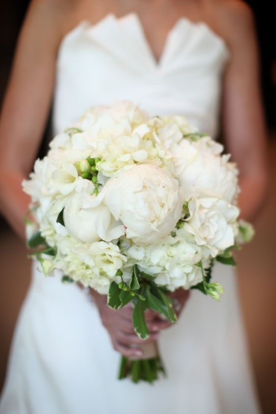 Classic Wedding Bouquet- See more wedding bouquet ideas on B. Lovely Events
