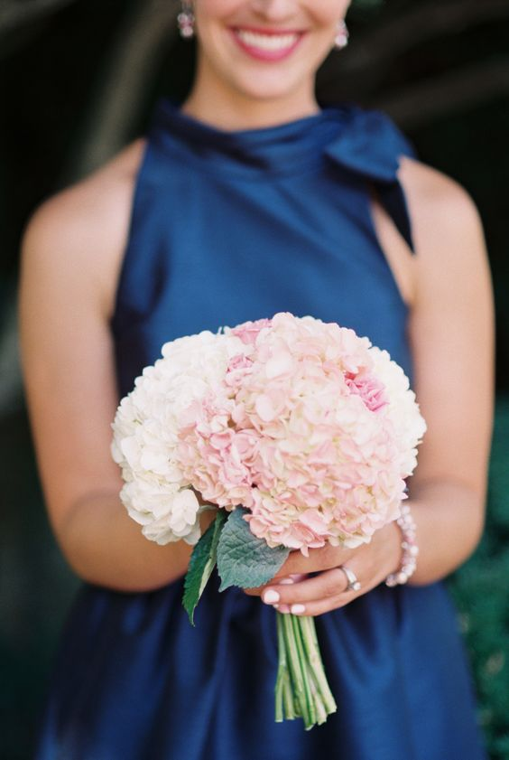 Pink Wedding Bouquet Hydrangea- See more wedding bouquet ideas on B. Lovely Events!