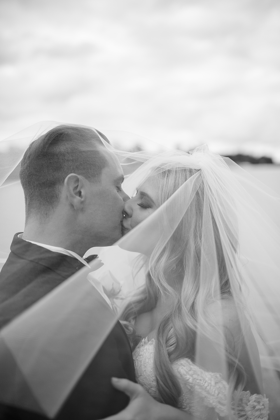 Bec & Callum Real Wedding The kiss! #wedding #weddingkiss #weddingideas