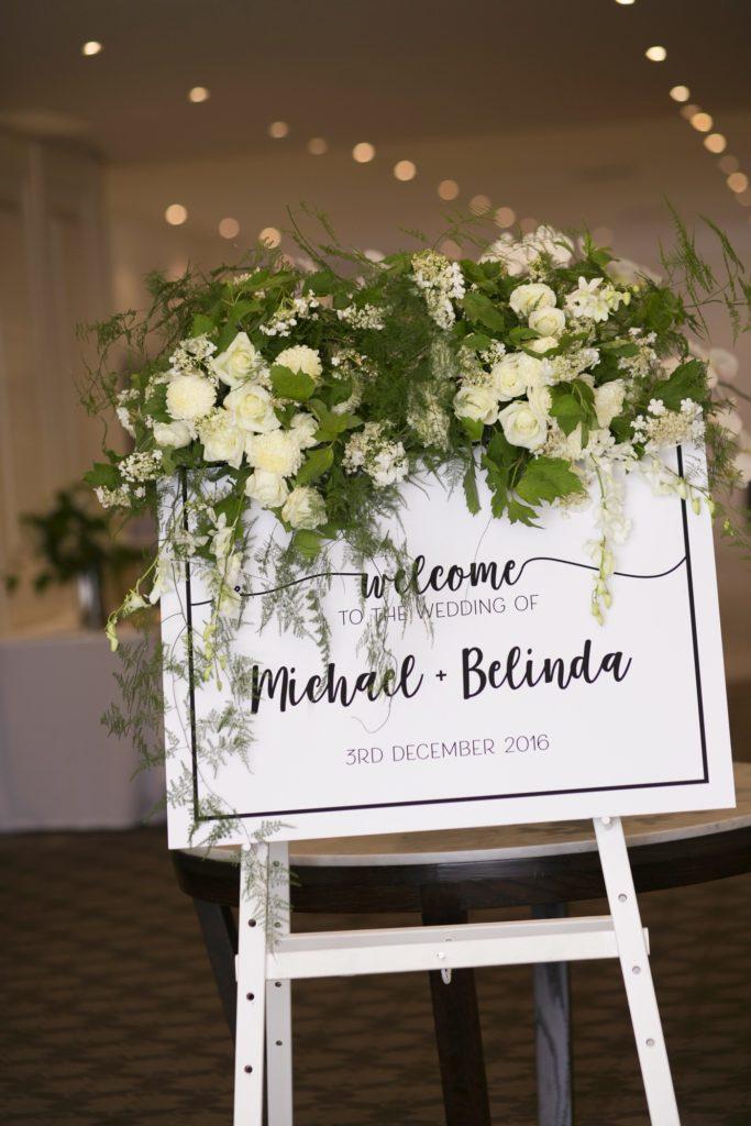 Fun wedding welcome sign  See all the beautiful details on B. Lovely Events! #wedding #realwedding #weddingideas #weddingtips #weddingdecorations