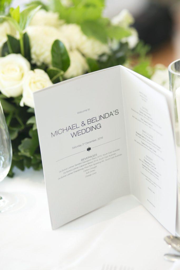 Real Wedding Belinda and michales all white wedding and wedding program - See all the beautiful details on B. Lovely Events! #wedding #realwedding #weddingideas #weddingtips #weddingdecorations