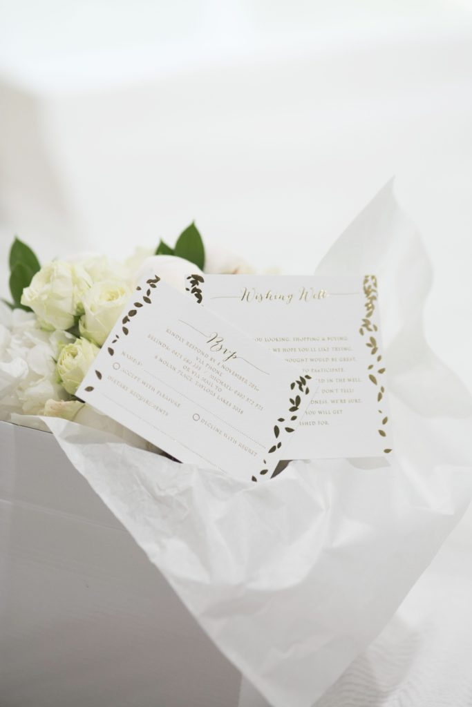 white wedding rose Wedding invitation - See all the beautiful details on B. Lovely Events! #wedding #realwedding #weddingideas #weddingtips #weddingdecorations