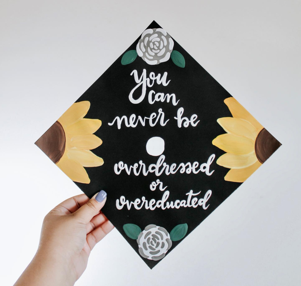 best graduation cap ever!-See more graduation caps on B. Lovely Events! #graduation #graduationcap