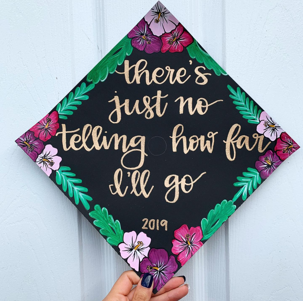inspiring decorated graduation cap!-See more graduation caps on B. Lovely Events! #graduation #graduationcap