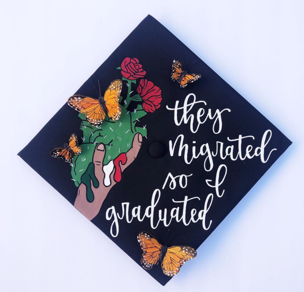 love this decorated graduation cap!- See more graduation caps on B. Lovely Events! #graduation #graduationcap