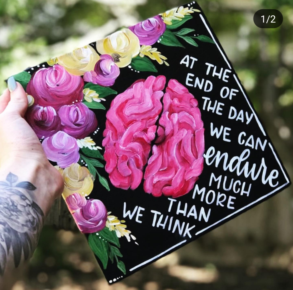 such a fun decorated graduation cap- See more graduation caps on B. Lovely Events! #graduation #graduationcap