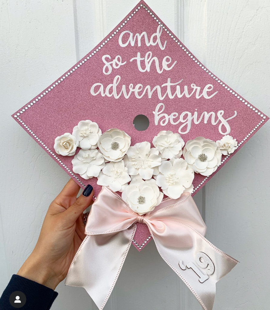 the most adorable decorate graduation hat- See more graduation caps on B. Lovely Events! #graduation #graduationcap