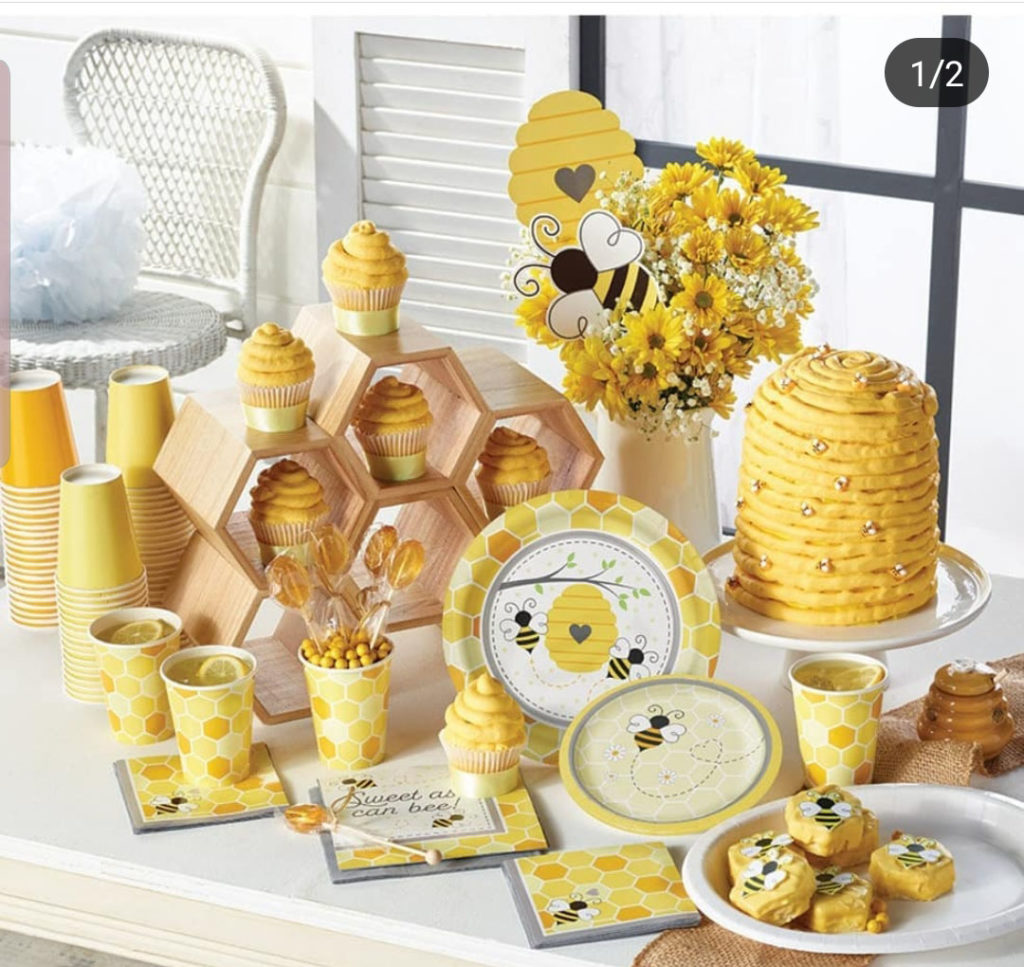 Bee Party supplies that are so cute! - See More Bee Party Ideas at B. Lovely Events
