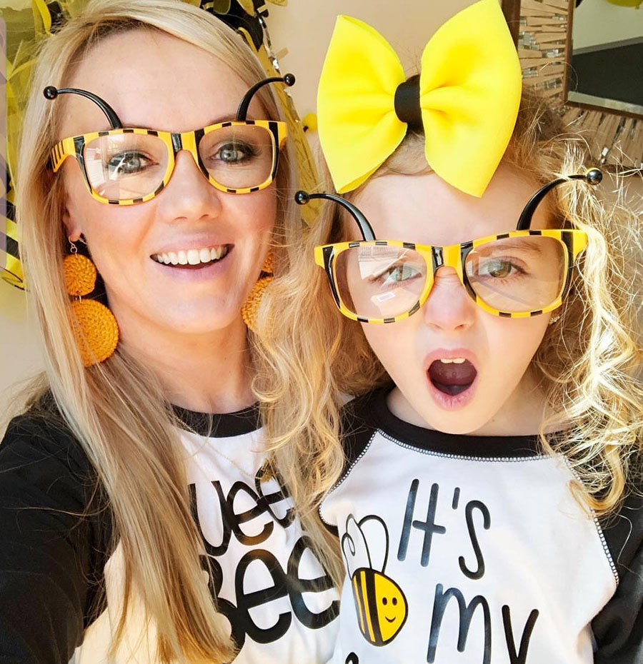 Fun Bee day party outfits! - See More Bee Party Ideas at B. Lovely Events