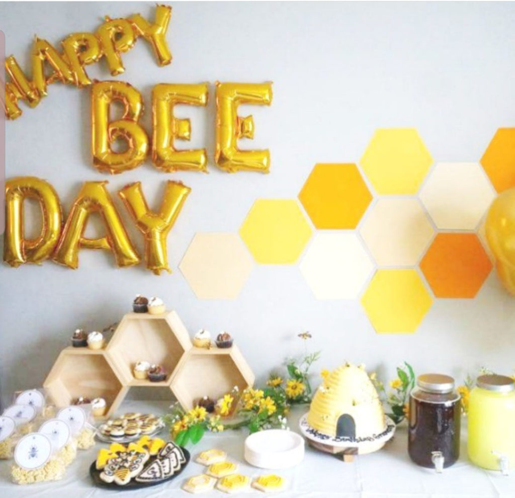 Happy Bee  Day Party that Is So Cute!- See More Bee Party Ideas at B. Lovely Events
