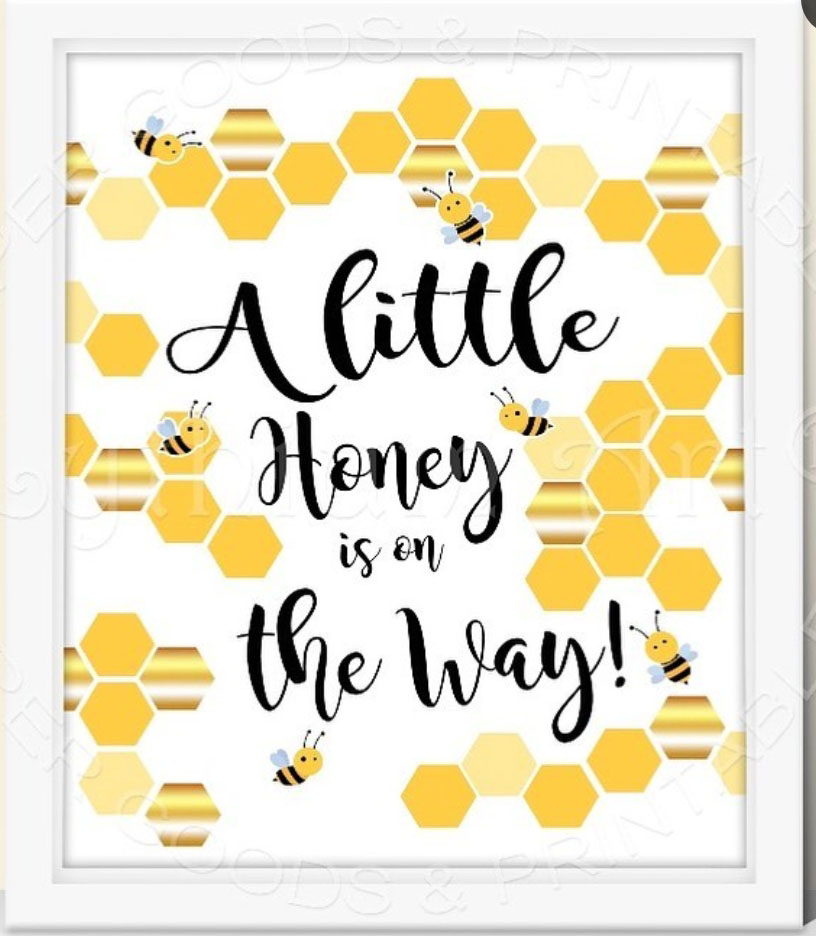 Love this sign to decorate a bee party! - See More Bee Party Ideas at B. Lovely Events