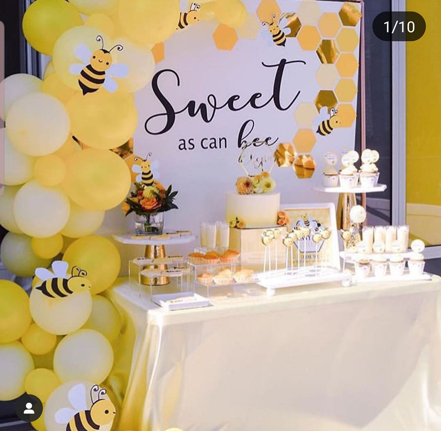 Sweet as can bee party- so cute! - See More Bee Party Ideas at B. Lovely Events