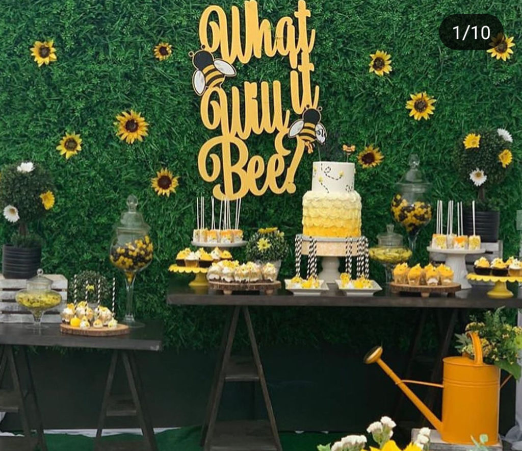 What it bee Baby shower theme, So cute! - See More Bee Party Ideas at B. Lovely Events
