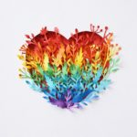 Love this rainbow heart for world of hearts