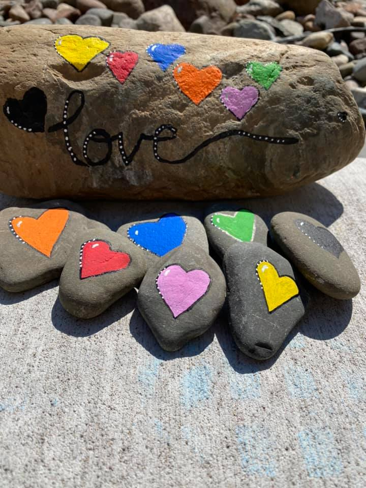 Painted Rocks for A world of Hearts