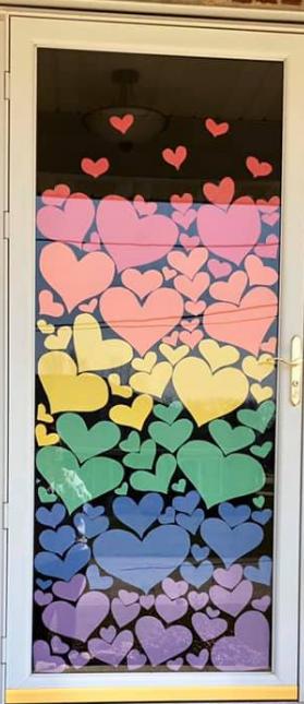 A world of hearts door