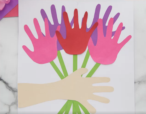 DIY Mother's Day Gifr- Handmade card with kids hands