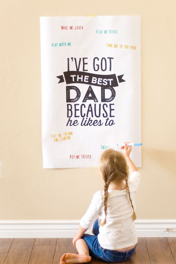 fathers day free printable poster