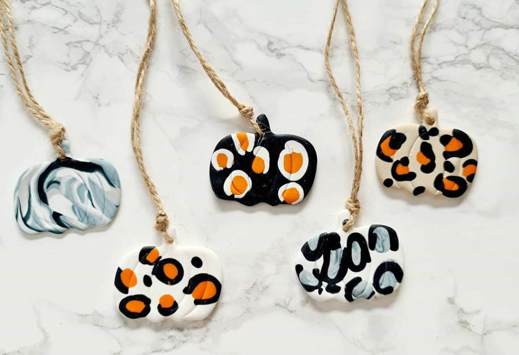 Leopard print pumpkin necklaces