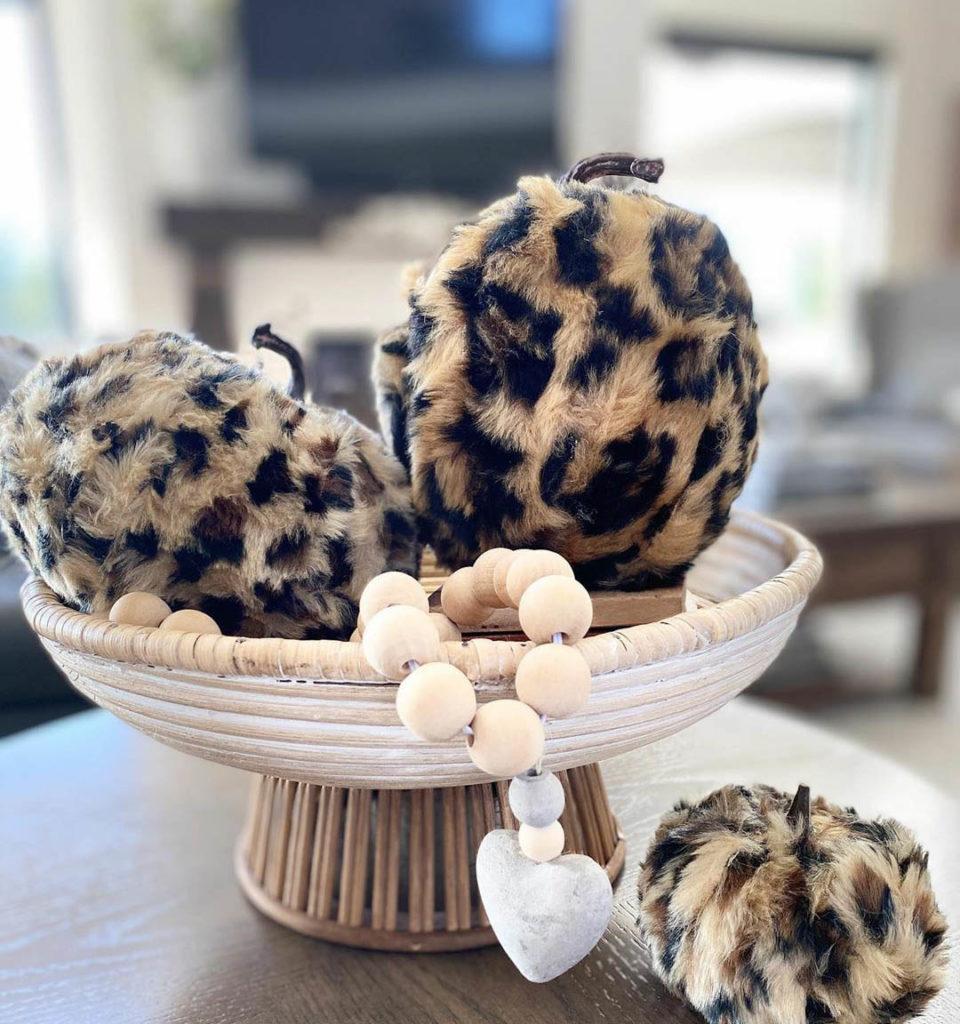 Fuzy fury leopard print pumpkins
