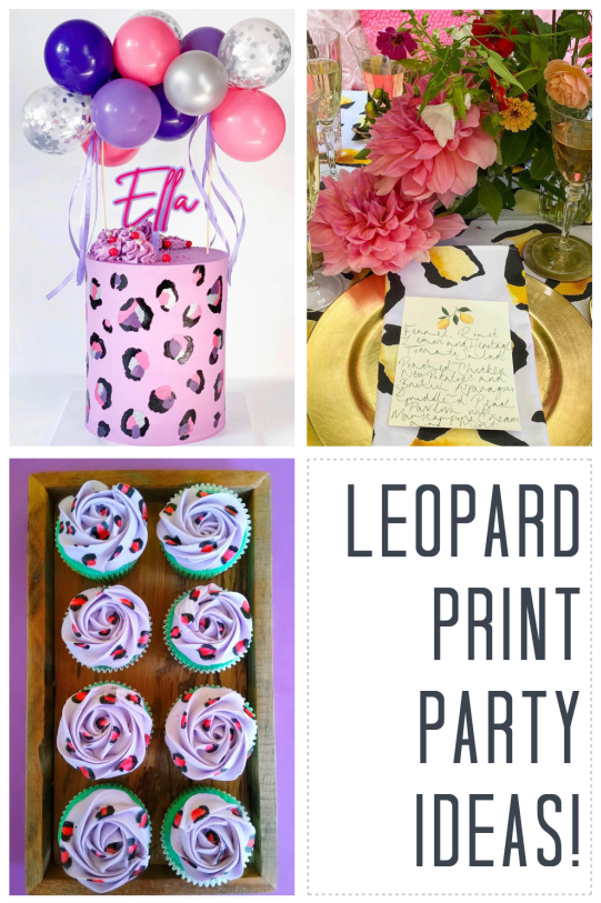 Leopard Print Party Ideas on B. Lovely Events!