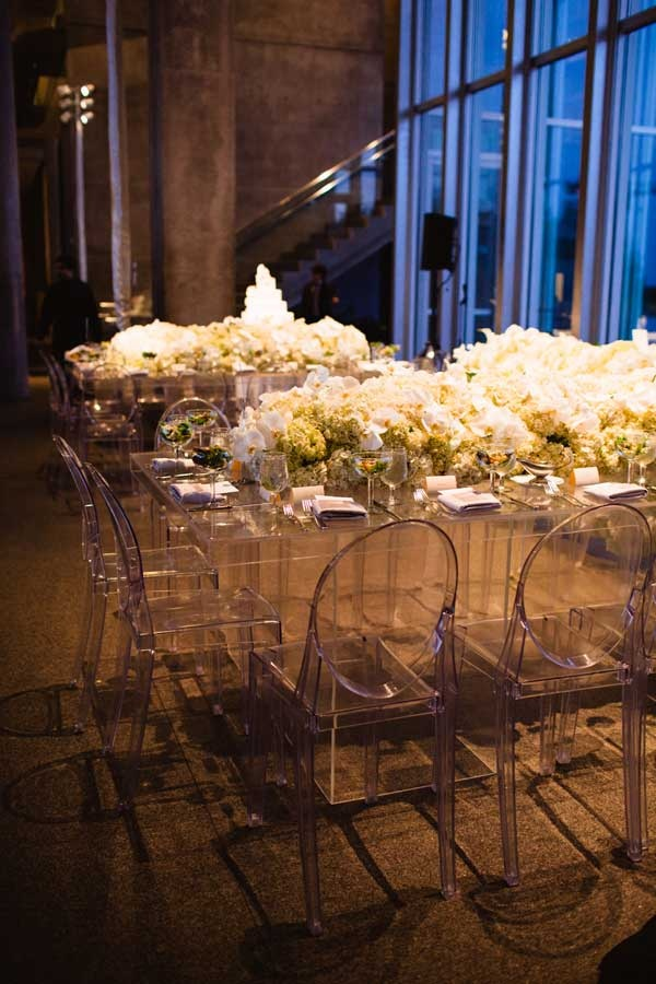 Gorgeous Modern White Tablescape B Lovely Events