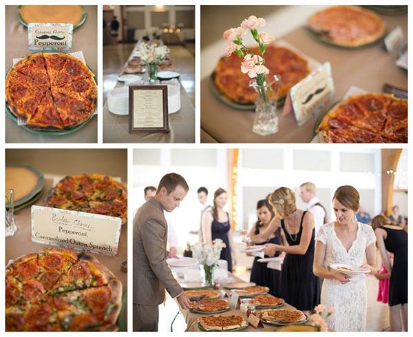 Gourmet Pizza Bar At A Wedding