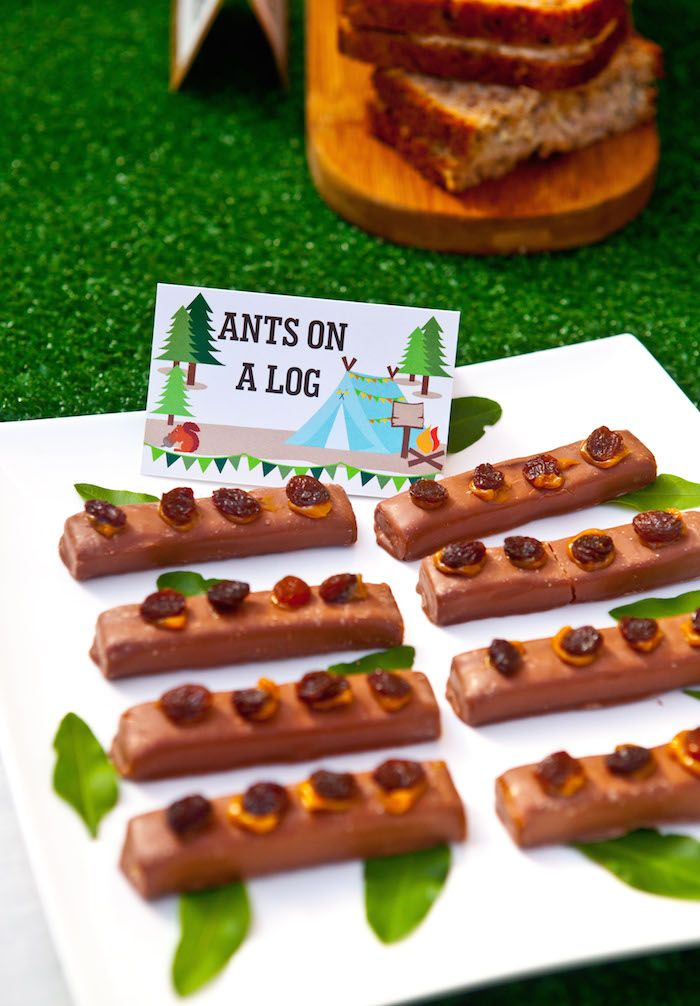 Ants On A Log Wood Party Treat