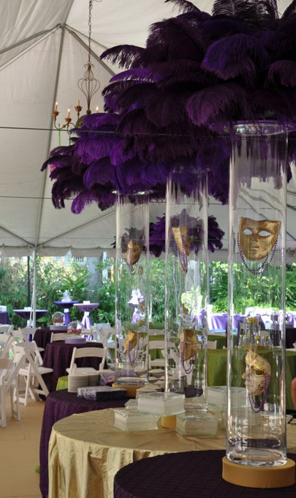 Inspiration Of The Day Mardi Gras Centerpieces B
