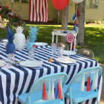 4th Of July Celebration Table Setting See All Of The Lovely Party Details on B. Lovely Events!