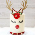 Such a cute reindeer cake- See more of our new obsession on B. Lovely Events!